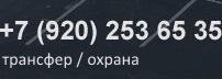 +7 (920) 253 65 35 круглосуточно / охрана / трансфер